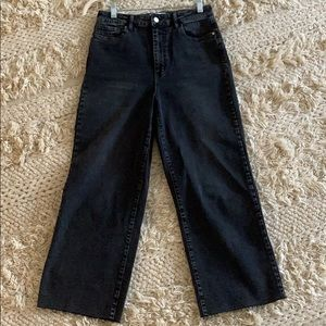 Tinsel Washed Black Wide Leg Crop Jeans Size 29